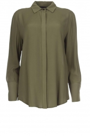 Atos Lombardini |  Classic blouse Amelia | green  | Picture 1