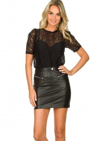 Set |  Lace top Whitney | black  | Picture 4