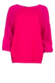 Atos Lombardini |   Top with cropped sleeves | pink  | Picture 1