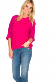 Atos Lombardini |   Top with cropped sleeves | pink  | Picture 2