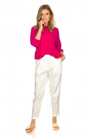 Atos Lombardini |   Top with cropped sleeves | pink  | Picture 3