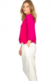 Atos Lombardini |   Top with cropped sleeves | pink  | Picture 5