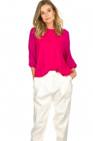 Atos Lombardini |   Top with cropped sleeves | pink  | Picture 4