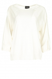 Atos Lombardini |  Top with cropped sleeves Maglia | white  | Picture 1