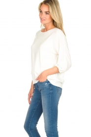 Atos Lombardini |  Top with cropped sleeves Maglia | white  | Picture 4