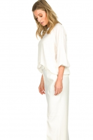 Atos Lombardini |  Top with cropped sleeves Maglia | white  | Picture 5