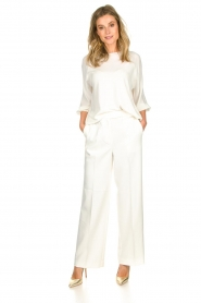 Atos Lombardini |  Top with cropped sleeves Maglia | white  | Picture 3