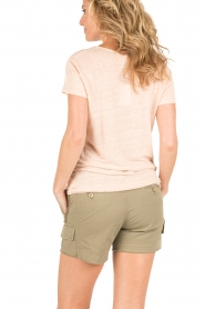 Knit-ted | Linnen T-shirt Kate | Nude  | Afbeelding 5