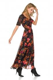 Hipanema | Bloemenprint maxi-jurk Ravy | zwart  | Afbeelding 4