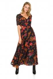 Hipanema | Bloemenprint maxi-jurk Ravy | zwart  | Afbeelding 2