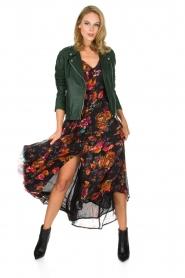 Hipanema | Bloemenprint maxi-jurk Ravy | zwart  | Afbeelding 3