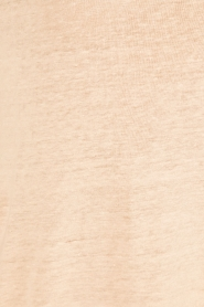 Knit-ted | Linnen T-shirt Brechtje | nude  | Afbeelding 6