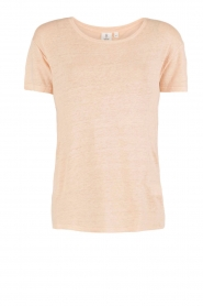 Knit-ted | Linnen T-shirt Brechtje | nude  | Afbeelding 1