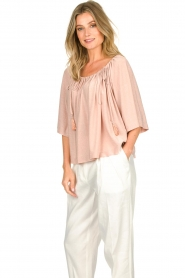 Atos Lombardini |  Off-shoulder top with lurex Lauretta | nude  | Picture 5