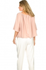 Atos Lombardini |  Off-shoulder top with lurex Lauretta | nude  | Picture 6