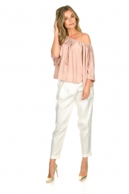 Atos Lombardini |  Off-shoulder top with lurex Lauretta | nude  | Picture 3