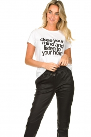 Set |  T-shirt with text print Mind | white  | Picture 4