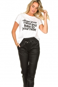 Set |  T-shirt with text print Mind | white  | Picture 2