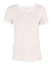 Knit-ted | Linnen T-shirt Brechtje | wit  | Afbeelding 1
