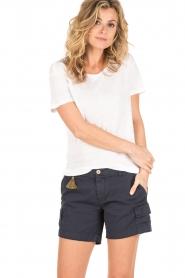 Knit-ted | Linnen T-shirt Brechtje | wit  | Afbeelding 2