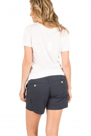Knit-ted | Linnen T-shirt Brechtje | wit  | Afbeelding 4