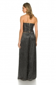 Atos Lombardini |  Flared plissé pants with glitters Sophia | black  | Picture 5