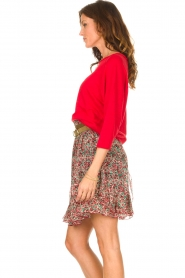 Set |  Linen sweater with boatneck Inge | red  | Picture 5