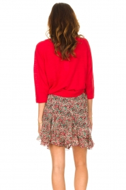 Set |  Linen sweater with boatneck Inge | red  | Picture 6