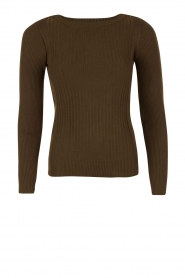 Fine knitted sweater Camerelle | Green