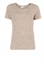 Knit-ted | Linnen T-shirt Brechtje | grijs  | Afbeelding 1