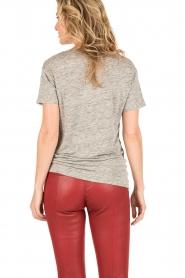 Knit-ted | Linnen T-shirt Brechtje | grijs  | Afbeelding 5
