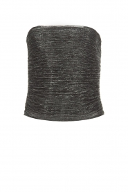 Atos Lombardini |  Strapless glitter top Florine | black  | Picture 1