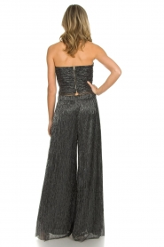 Atos Lombardini |  Strapless glitter top Florine | black  | Picture 5