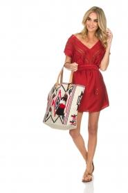 Hipanema |  Dress Roberta | red  | Picture 3