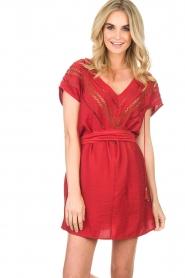 Hipanema |  Dress Roberta | red  | Picture 2