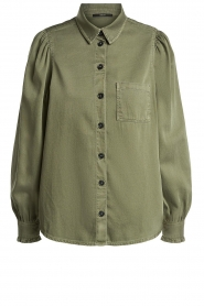 Set |  Blouse with subtle puff sleeves Milly | green  | Picture 1