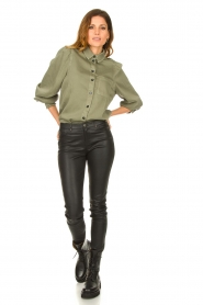 Set |  Blouse with balloon sleeves Milly | green  | Picture 3