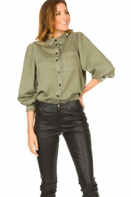 Set |  Blouse with balloon sleeves Milly | green  | Picture 4