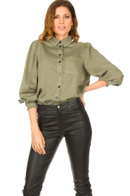 Set |  Blouse with balloon sleeves Milly | green  | Picture 2