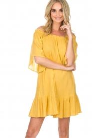 Hipanema | Off-shoulder jurk Rayane | geel  | Afbeelding 6