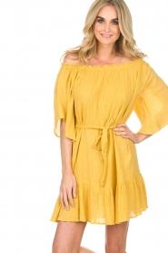 Hipanema | Off-shoulder jurk Rayane | geel  | Afbeelding 5