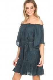 Hipanema | Off-shoulder jurk Rayane | blauw  | Afbeelding 3