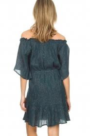 Hipanema | Off-shoulder jurk Rayane | blauw  | Afbeelding 4