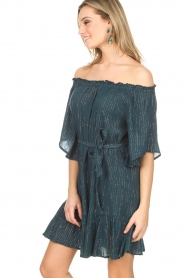 Hipanema | Off-shoulder jurk Rayane | blauw  | Afbeelding 2