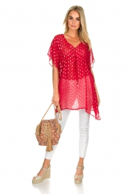 Hipanema |  Caftan Kasey | red  | Picture 3