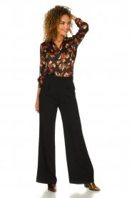 Atos Lombardini |  Flared trousers Mitzi | black  | Picture 3