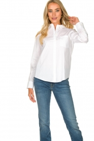 Set |  Basic blouse with pocket Essenza | white  | Picture 4