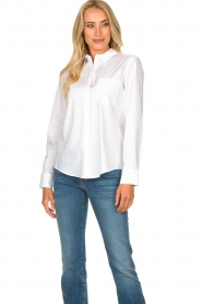 Set |  Basic blouse with pocket Essenza | white  | Picture 2