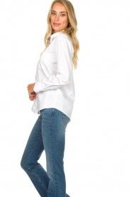 Set |  Basic blouse with pocket Essenza | white  | Picture 6