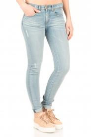 Lois Jeans | Mid rise skinny jeans Berta lengtemaat 34 | blauw  | Afbeelding 4